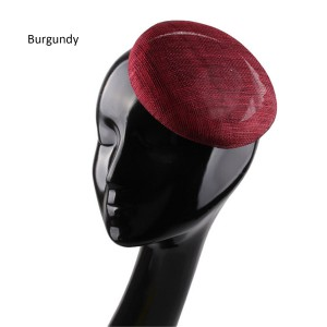 HBM008B Round Button Fascinator Sinamay Hat Base for Millinery & Hat Making 5.9