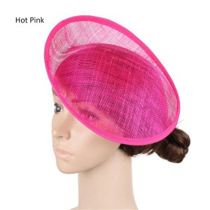 HBM010 Round Button Fascinator Sinamay Hat Base Headwear for Millinery & Hat Making 9.8