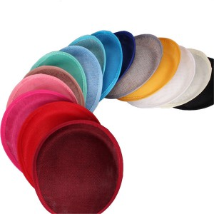 HBM011 Round Button Fascinator Sinamay Hat Base Headwear for Millinery & Hat Making 7.9