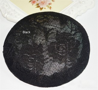 HBM016 Fascinator Lace Sinamay Hat Base Headwear for Millinery & Hat Making 6
