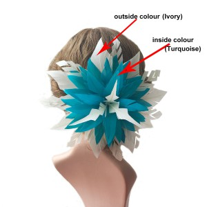 RB106 Feather Flower DIY Millinery Hat Wedding Feather Fascinators Handcraft Headress