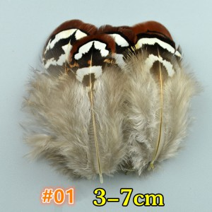 FEA1021-#1 50Pcs/packet Natural Pheasant Feathers for Millinery Hat Making Headpiece Handcrafts DIY