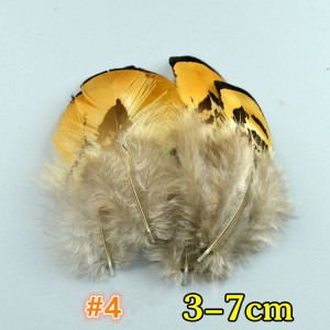FEA1021-#4 50Pcs/packet Natural Pheasant Feathers for Millinery Hat Making Headpiece Handcrafts DIY