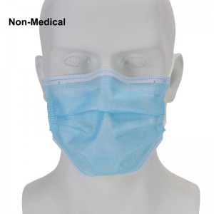 50pcs Blue Disposable 3-Layer Protective Non-Medical Face Mask Breathable Masks