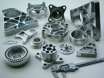 Various precision engineered motorsport components.