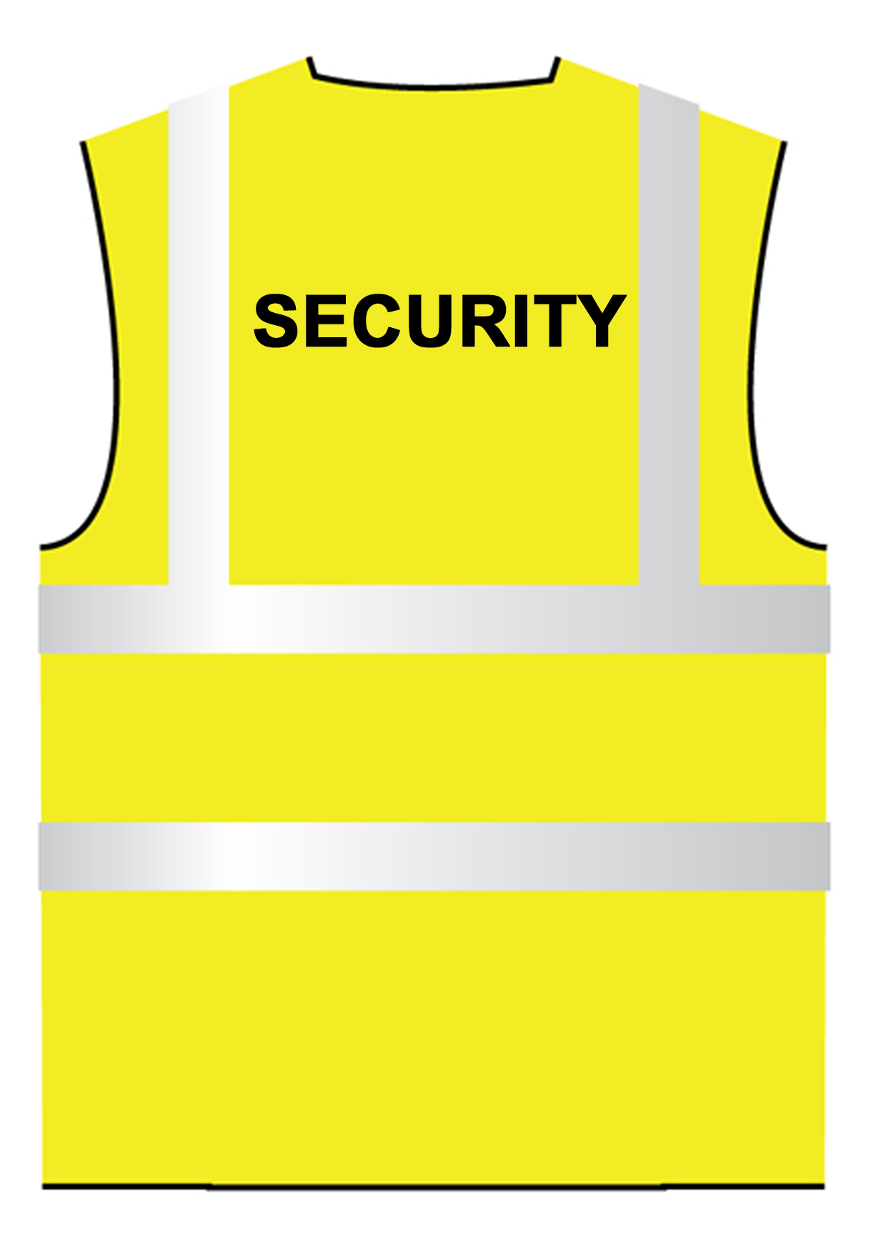 Security hi vis viz waistcoat vest printed sizes small for Hi vis t shirt printing