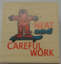 Neat And Careful Work Stamp & Ink Pad