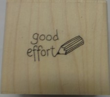 Good Effort Stamp And Black Ink Pad