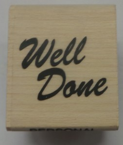 Well Done Stamp And Black Ink Pad