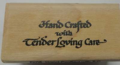 Hand Crafted With Tender Loving Care Stamp