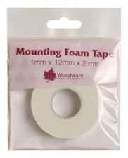 Woodware Double Sided Mounting Foam Tape 1mm Deep