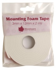 Woodware Double Sided Mounting Foam Tape 3mm Deep