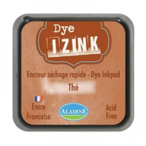 Izink Dye Based Stamp Pad  Tea 5cm X 5cm