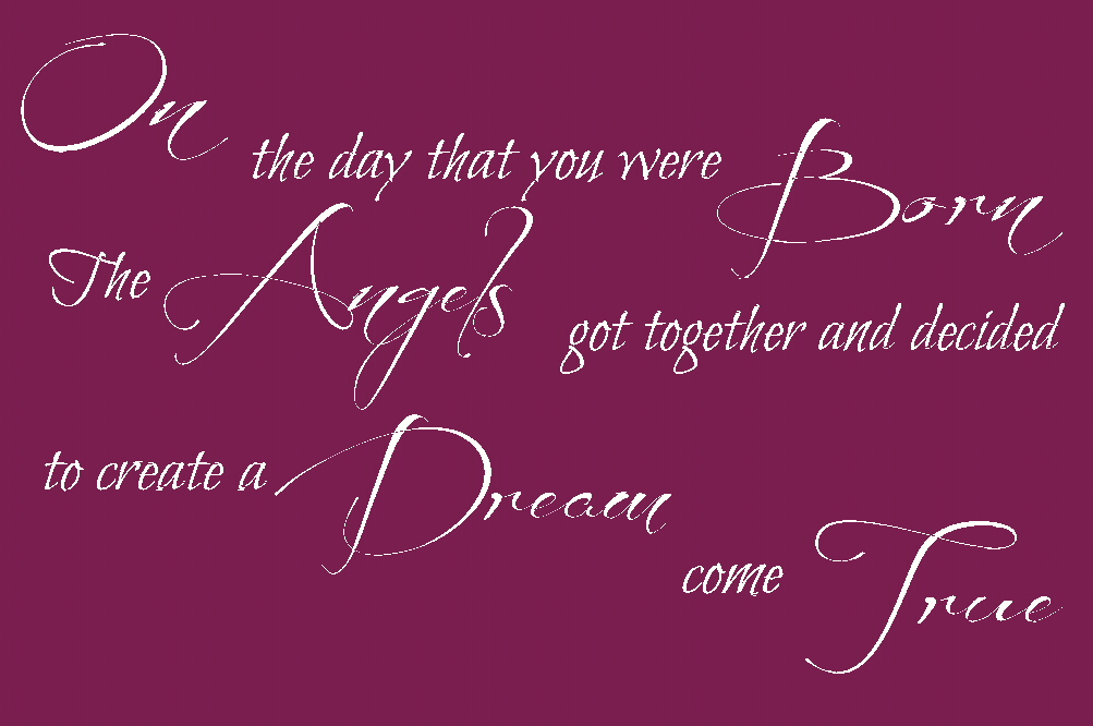 on the day that you were born carpenters song quote wall decals