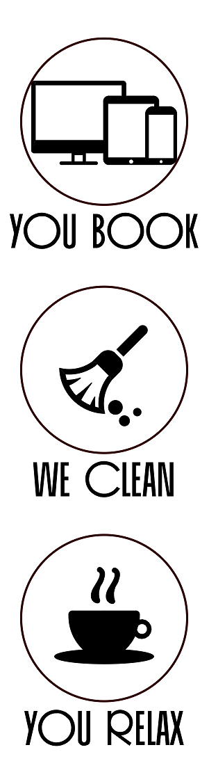 You Book, We Clean, You Relax