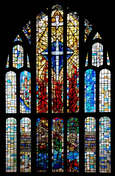 ST FRANCIS WINDOW. East Window, St Francis Chhurch, West Wickham