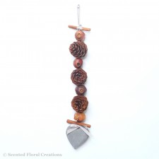 Pinecone Garland with wooden heart