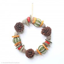 Dried Orange and Natural Pinecone Circle