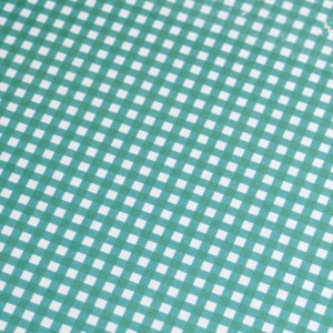 A4 240gsm Gingham Teal Design Card