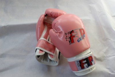 Pink And White Boxing Gloves Kids