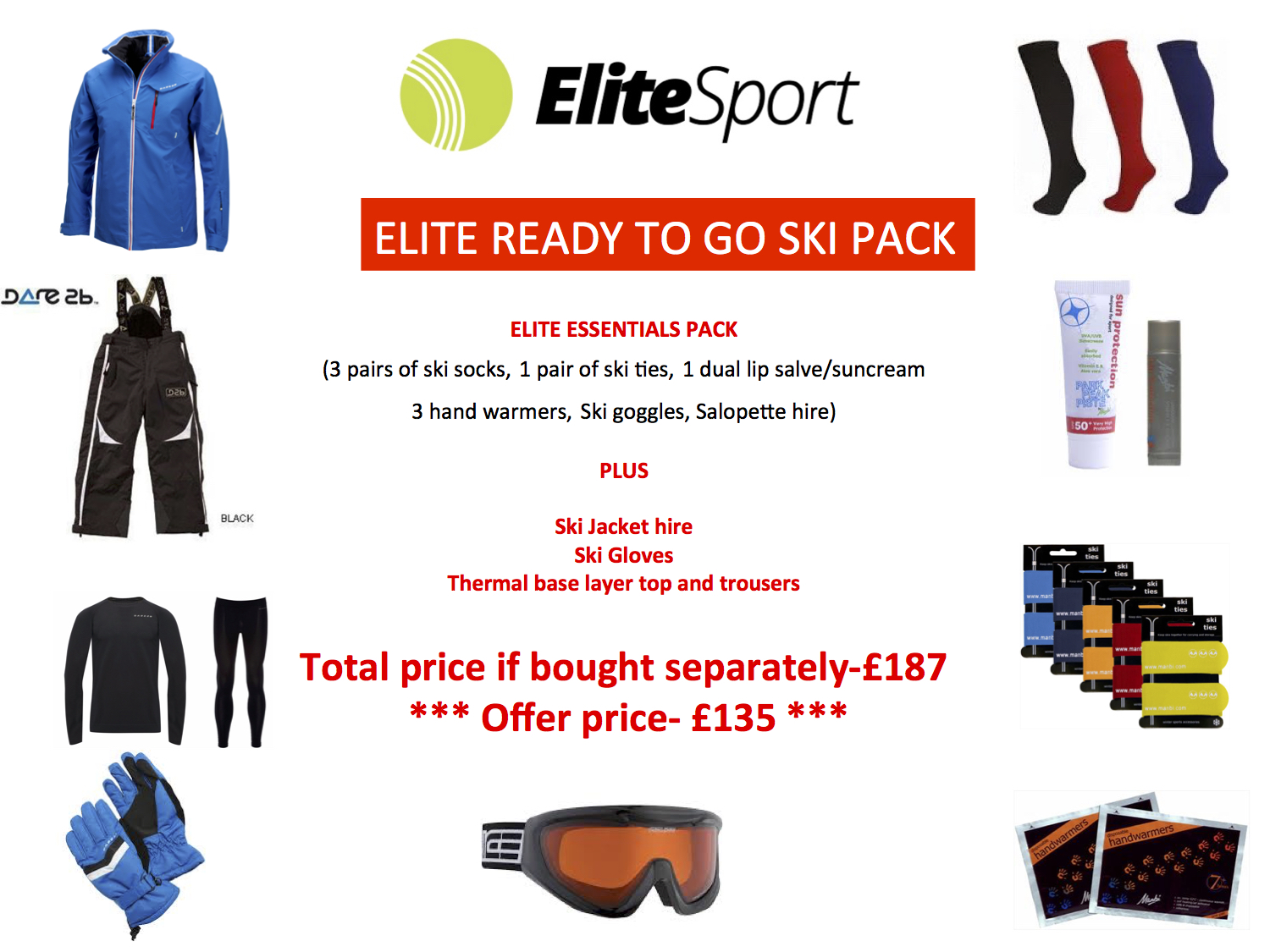 Elite Ready to Go Ski Pack
