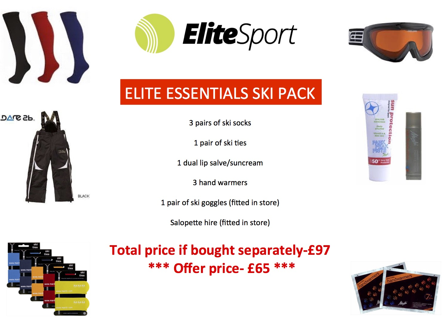 Elite Essentials Ski Pack