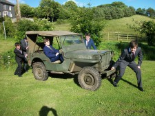 willys jeep off to the prom