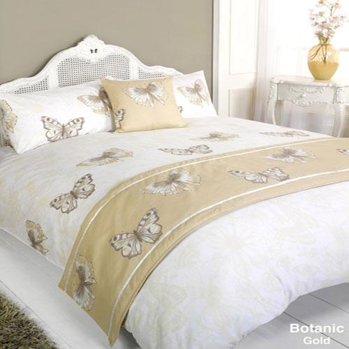 5 Piece Bed in a Bag Set Botanic Gold
