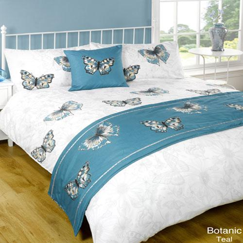 5 Piece Bed in a Bag Set Botanic Teal