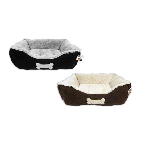 Faux Suede Pet Bed Large