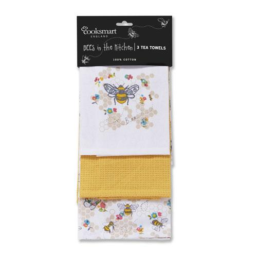 Busy Bees Print Tea Towels