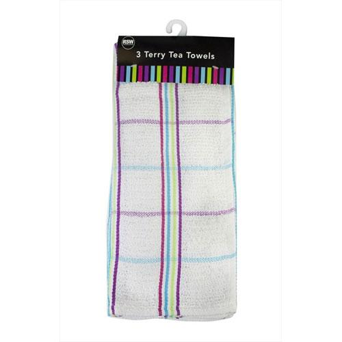 Cotton Tea Towels Checkered Print