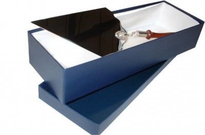 Silver plated presentation trowel in satin box