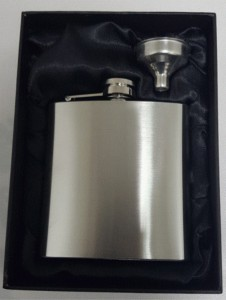 6oz budget hipflask gift boxed set