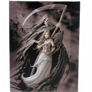Summon The Reaper Design Canvas Wall Plaque.