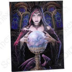 Crystal Ball Anne Stokes Wall Plaque