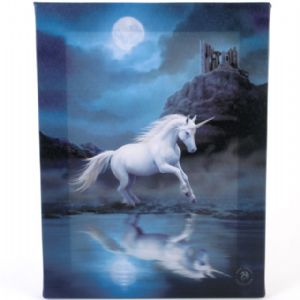 Moonlight Unicorn Design Wall Canvas.