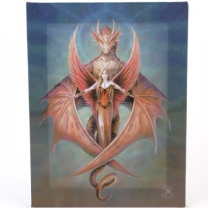 Copper Wing Dragon And Angel Design Wall Canvas
