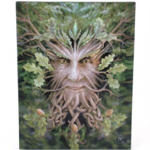Oak King Green Man Design Wall Canvas.