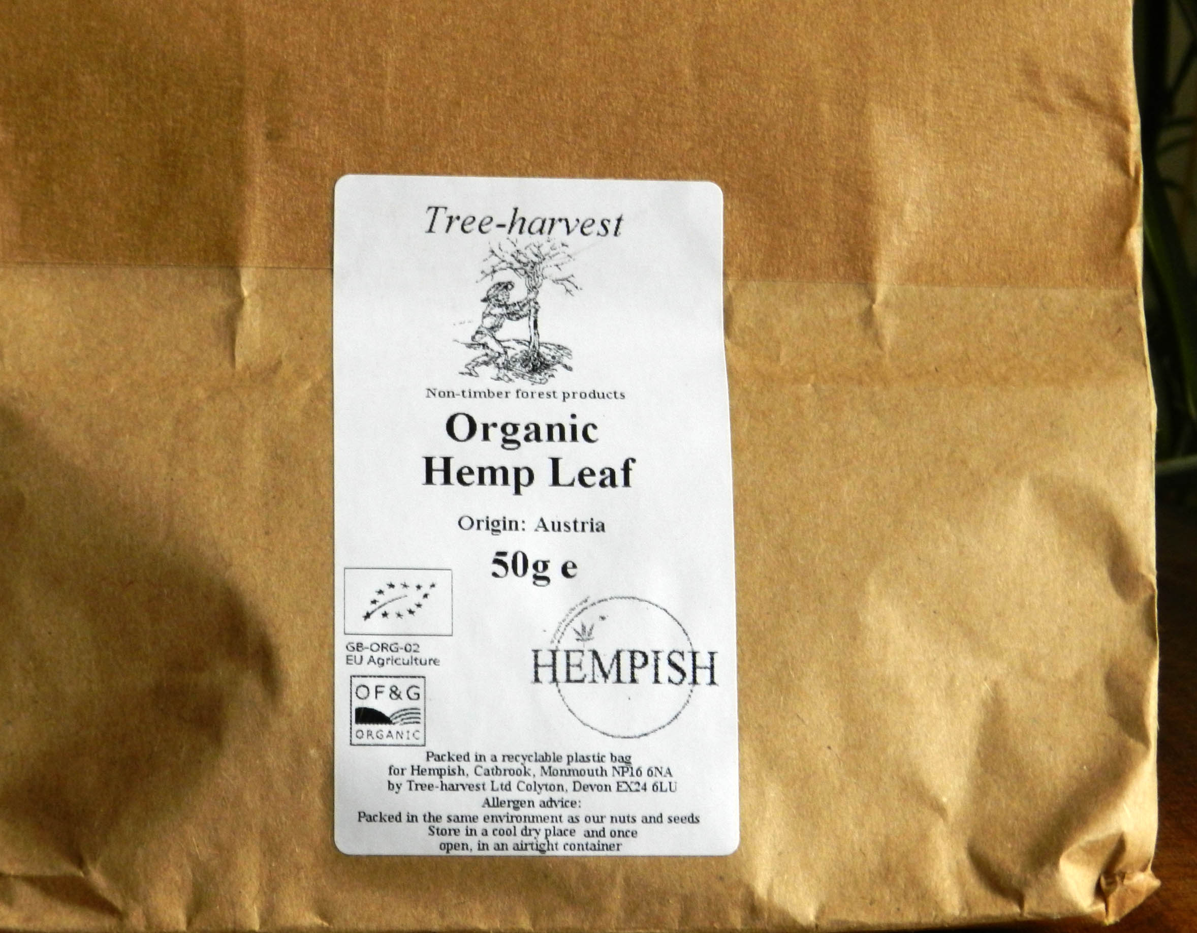 Organic Hemp Leaf Tea