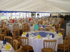 Our new 12m wide marquee will seat 200~500 guests