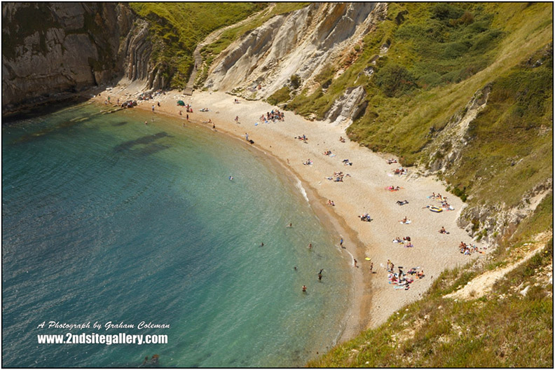 Man o'War cove a photograph from Graham Colemans pictures of Dorset