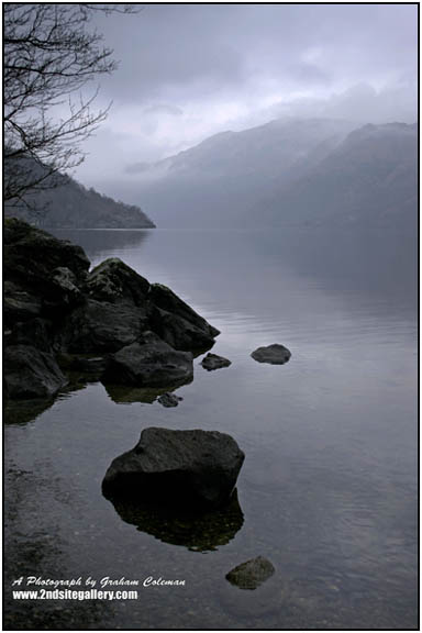 dark waters and misty mountains, Loch Lomond An original photograph from Graham Coleman's landscapes of Scotland.