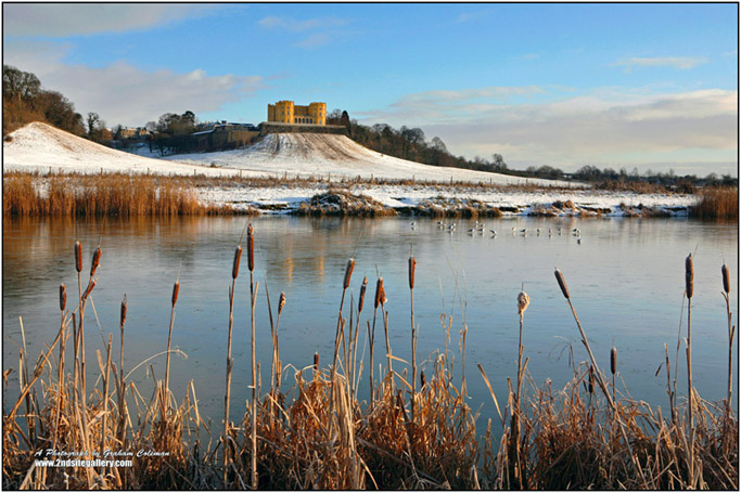 Duchess Lake in the snow Stoke Park Bristol