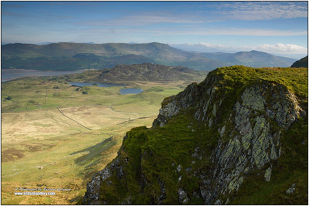 View of the mountains of cadair idris
