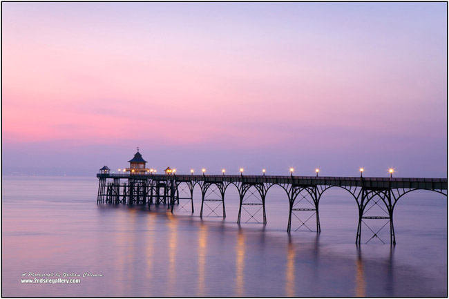 View of Clevedon Pier at Dusk