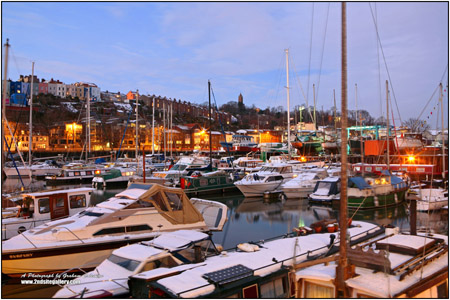 a view of bristol marina