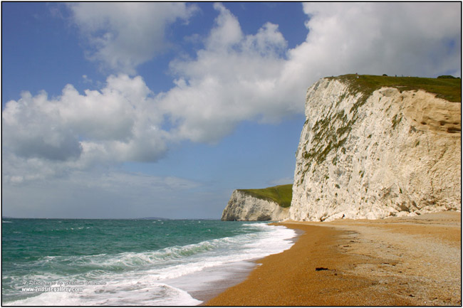 White Cliffs and Beach on the Dorset Coast