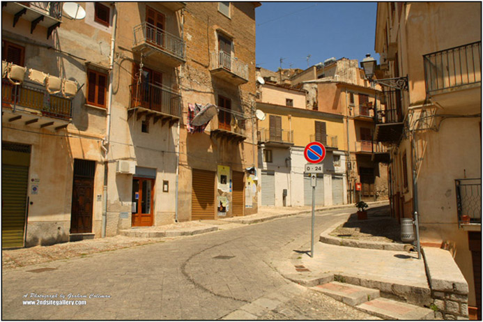 Street in Caccamo