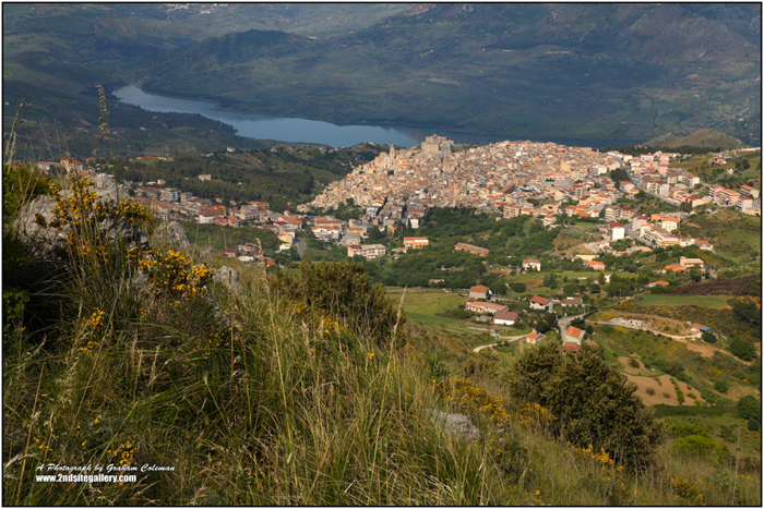 View of Caccamo Sicily